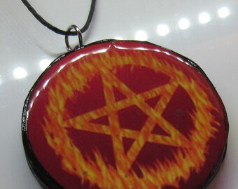 Fire Pentacle Necklace