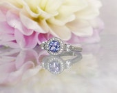 Tanzanite Ring, Tanzanite Sterling Ring, Tanzanite Silver Ring, Tanzanite, Purple Tanzanite Ring, Natural Tanzanite Ring, Purple Gemstone