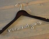 Personalized Hanger, Gift for Bride, Flash Sale Bridal Hanger, Custom Hanger, Wedding Dress Hanger, Engagement Gift, Wire Name Hanger