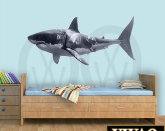 Great White Shark Wall Decal Shark Wall Decor Realistic Shark Sticker Peel  And Stick Home Decor Part 60