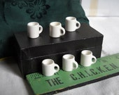 Set of 6 Tiny Mugs For Your Dollhouse Kitchen