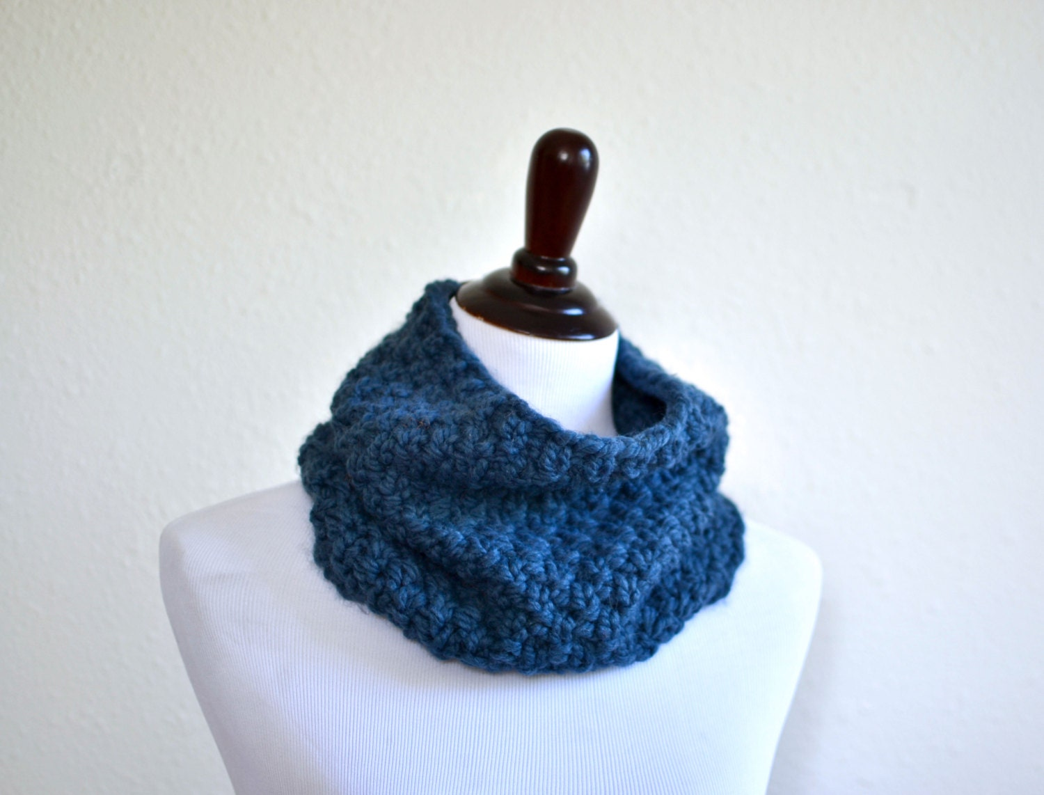 Knit Pattern Cowl Neck Warmer : Chunky Knit Cowl Neck Warmer // Cowl Scarf // Hand Knitted