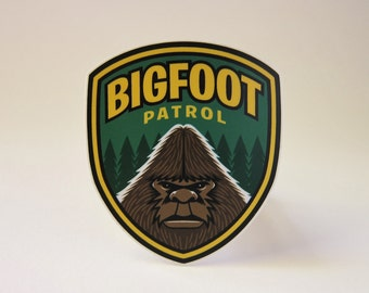 Bigfoot Patrol Die-Cut Sticker