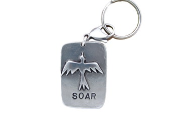 Soar Key Chain with Bird - Gift For Him
