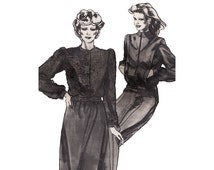 Stretch & Sew 660 Bomber Jacket Cardigan Vintage 1980s Uncut Sewing Pattern Button or Zipper Front Fitted Waist Blouson Bomber Bust 28-44