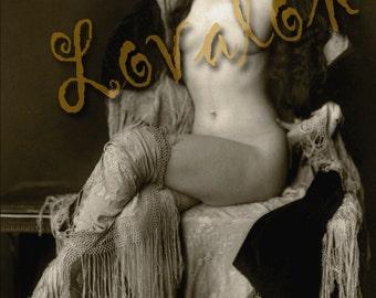 MATURE... La Bohème... 1920's Vintage Nude Fashion Photograph... Deluxe Erotic Art Print... Available In Various Sizes