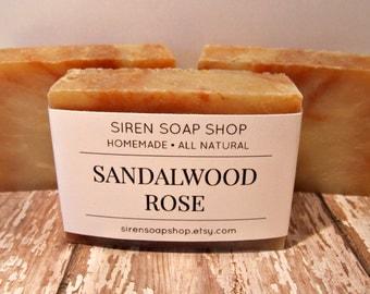 Sandalwood Rose Soap, Sandalwood, Rose