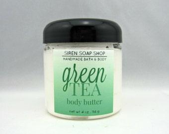 Green Tea Body Butter, Body Butter, Lotion, Green Tea