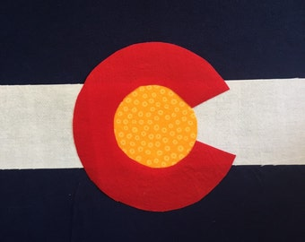 Colorado Flag Kids' T-shirt, Appliqued Boy's and Girl's Tee, Colorado Pride Shirt, Handmade Appliqued Colorado Flag T-shirt