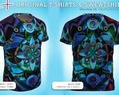 Mandala V8 : T-Shirt (or Sweatshirt) * Full-print (on 2 sides) * original art * Best Print Quality ( cotton + polyester outside )
