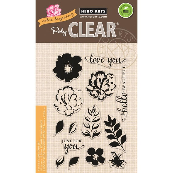 Hero Arts Color Layering for You Flowers CL944 Clear Stamps