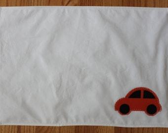recycled orange car sail placemat