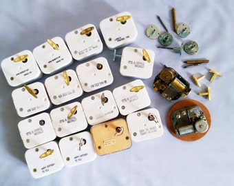 20 vintage music boxes for crafting, collecting, woodworking, jewlery boxes, floral arrangements, figurines, FREE US shipping