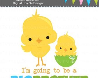 Big Brother Digital Iron On - Big Brother Digital Sticker Design - Pregnancy Announcement - Digital Tshirt Design - Digital Sticker Design