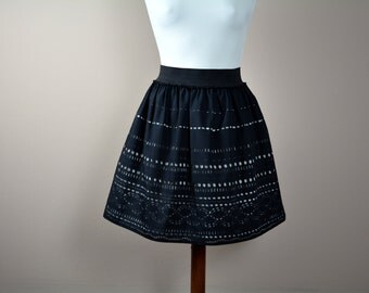 Black skirt,Lace skirt,Cotton skirt,Womens clothing,Aline skirt,Knee length skirt,Mini skirt,Boho skirt,petite