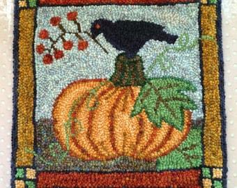 Pumpkin and Crow Rug Pattern