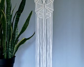 Macrame Wall Hanging - Natural White Cotton Rope on Wooden Dowel - Boho Nursery / Home Decor - MADE TO ORDER