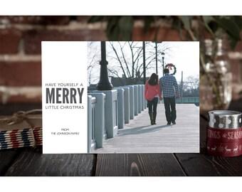 Digital Christmas Card, Holiday Card, Simple, Christmas Photo Card, Personalized Card, Custom Card, Christmas Card Printable