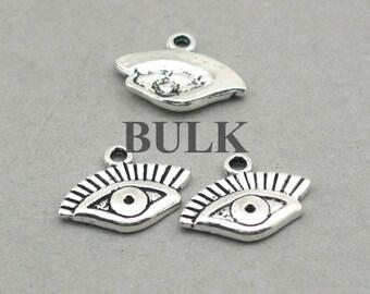 Eye Charm BULK order Antique Silver 40pcs zinc alloy pendant beads 13X16mm CM0895S