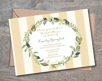 Fall Bridal Shower Invitation, Bridal Shower Invite, Bridal Luncheon Invitation, Fall Bridal Shower Invite, Printable, EMILY