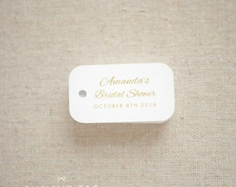 Romantic Bridal Shower Favor Tags - Bridal Shower Miniature Gift Tags - Wedding Favor Tags - Thank you tags - Set of 40 (Item code: J557)
