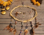 Tribal Dreamcatcher With Bamboo And Hemp
