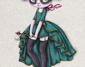 Marie - A5 Super Luxe Art Card - Inspired by Marie Antoinette, Fan Fiction, Rococo, Character Design and Anthropomorphism