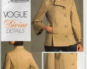 Unlined Jacket With Front And Back Princess Seams Pockets Cropped Flared Sleeve Plus Size 14 16 18 20 Coat Sewing Pattern Vogue V8480