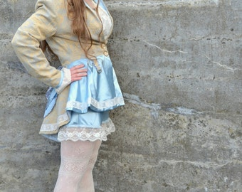 Patchwork Steampunk Lolita Circus Punk coat and shorts