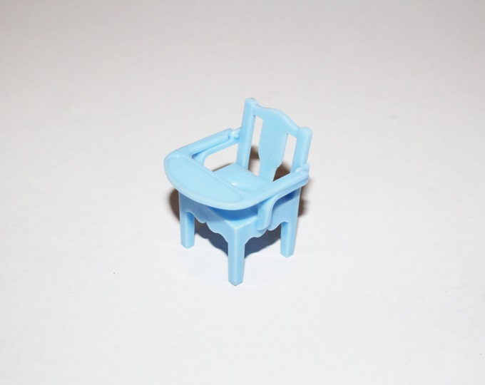 Dollhouse Furniture Renwal Blue Potty Chair High Chair Vintage 1950s