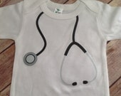 Stethoscope Baby One Piece or Shirt pick your color