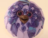 Butterfly - Polymer Clay Owl Ornament