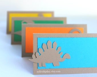 Dinosaur Place cards-8 dinosaur food tent cards-place cards-food label cards-dinosaur drink labels-Dinosaur birthday-Dinosaur party-