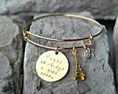 Paris Bracelet - Vacation Bracelet - Travel Bracelet - Unique Christmas Gifts - Paris is Always a Good Idea - Paris Charm Bracelet