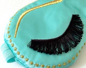 Holly Golightly sleep mask, Eyelashes sleep mask, Boudoir sleep mask, Breakfast at Tiffany's, Hollywood glam, Audrey Hepburn eye mask