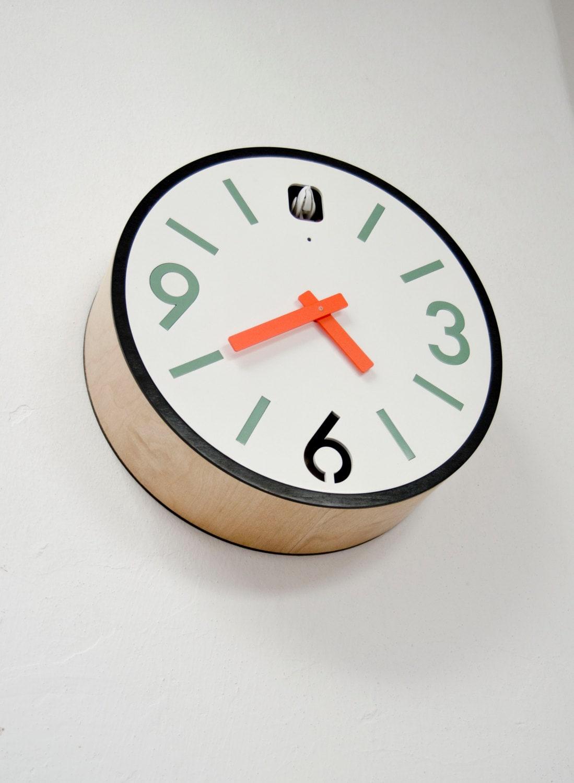 Station2 cuckoo clock with moving pendulum - Modern coo coo clock ...