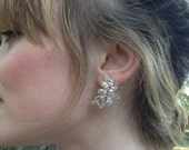 Crystal Bridal Earrings, Rose Gold Statement Earrings, Wedding Earrings, Rose Gold Bridal Earrings