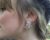 Crystal Bridal Earrings, Rose Gold Statement Earrings, Wedding Earrings, Rose Gold Bridal Earrings-CUSTOM ORDER