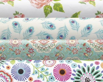 "Tissue Paper > Pattern Tissue Paper 12 sheets  20"" X 30"" New Colors Blue Pink Floral Tissue Gift Wrap Wedding Made In Italy"