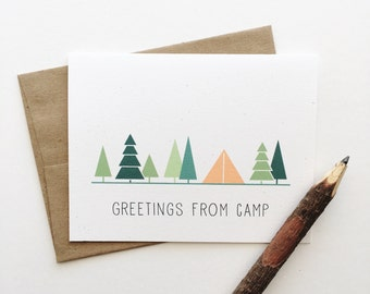 Greetings from Camp | Greeting Card