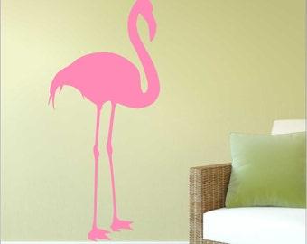 Flamingo Wall Decal, Nature Wall Decor, Bird Art A-113