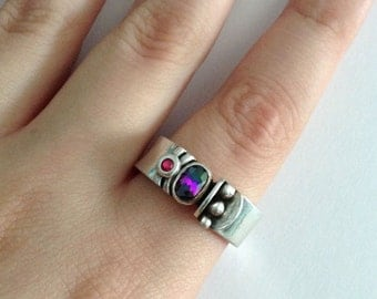 Abstract Silver Ring