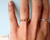 Infinity Twist Rope Textured 14k Yellow Gold Fill Stacking Ring - custom made to order