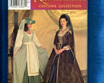 Simplicity 0637 Renaissance Costumes for Adults  Lady in Waiting and Maid Sizes 10 12 14 UNCUT