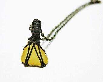 Orange Moonstone Necklace, Raw Moonstone Necklace, Moonstone Collar Necklace, Boho Necklace, Men Necklace, Women Necklace, Raw Stone Necklac
