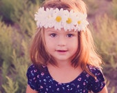 Daisy Flower Crown - Flower Crown - Silk Flower Headband - Flower Halo - Dainty and Dapper