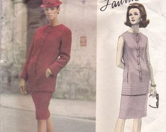 60s Lanvin Two Piece Dress Pattern Vogue Paris Original 1446 Size 14
