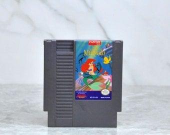 Vintage Nintendo Game Disneys The Little Mermaid NES By Capcom 8 bit 1991 - Eric - Prince - Ursula - Evil Witch - Sea - Lobsters - Eels