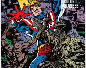 Vintage Fighting Amercan Number 5 June 1994 - DC Universe - PhorOptor - Free Association - Media Circus - Gross National Product - Communist