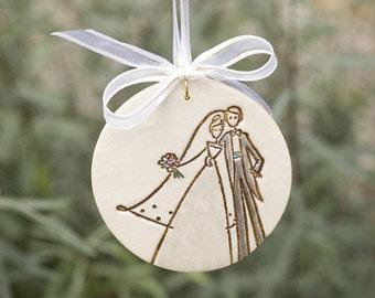 First Christmas Together Wedding Christmas Tree Ornament